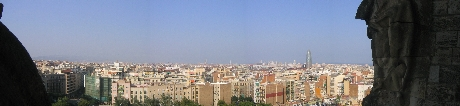 Barcelona - The impressive beautiful view from the sagrada familia