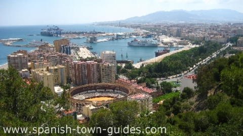 Malaga city overview